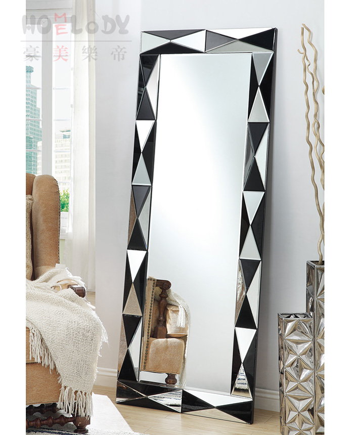Diamond venetian mirror